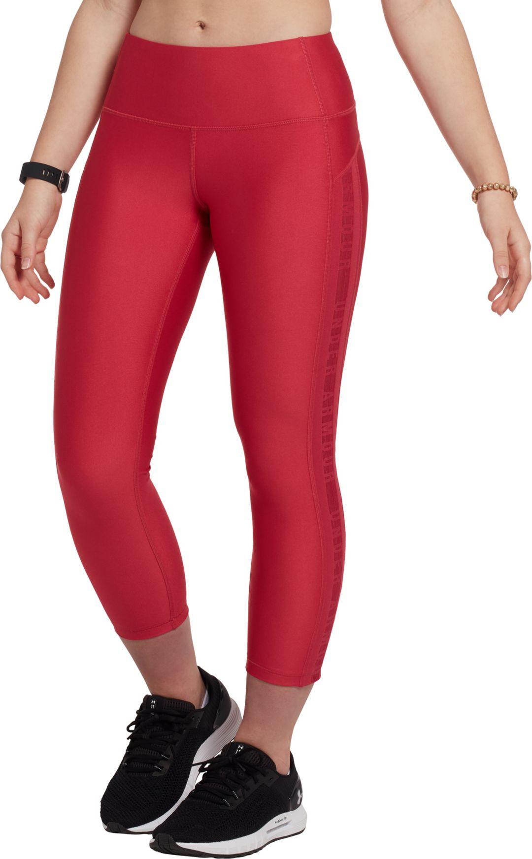 c938a448bb Under Armour Women's HeatGear Armour Ankle Crop Brand Leggings