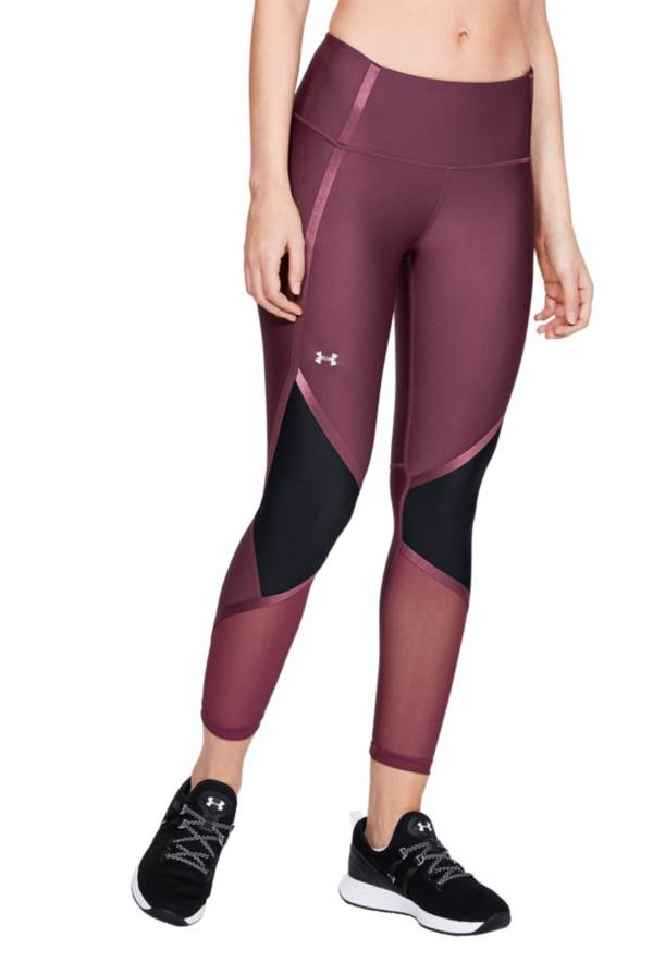 Under Armour Women's HeatGear Shine Ankle Crop Compression Tights product image