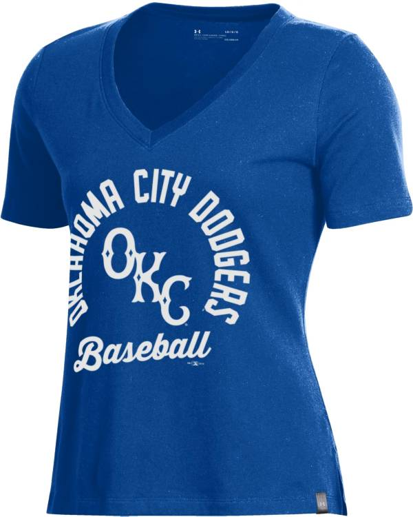Under Armour Women's Oklahoma City Dodgers Royal V-Neck Performance T-Shirt product image