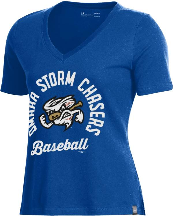 Under Armour Women's Omaha Storm Chasers Royal V-Neck Performance T-Shirt product image