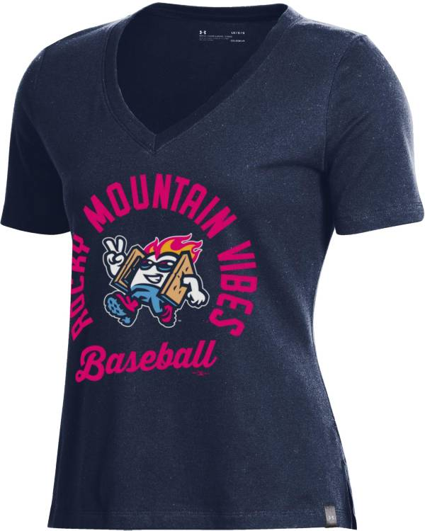 Under Armour Women's Rocky Mountain Vibes Navy V-Neck Performance T-Shirt product image