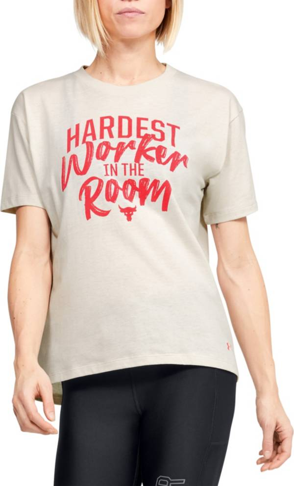 Under Armour Women's Project Rock Hardest Worker Graphic T-Shirt product image