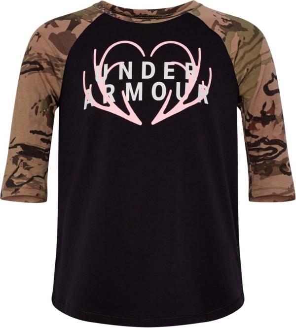 Under Armour Girls' Heart Logo 3/4 Length T-Shirt product image