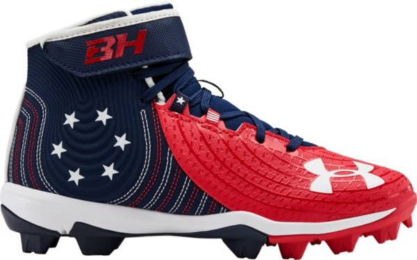 Under Armour Kids' Harper 4 Mid RM LE Baseball Cleats product image