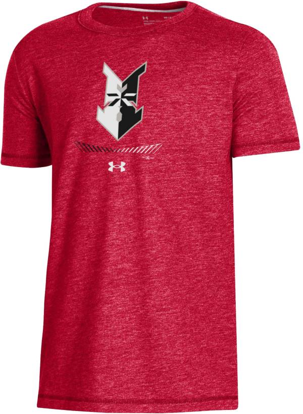 Under Armour Youth Indianapolis Indians Red Tri-Blend Performance T-Shirt product image