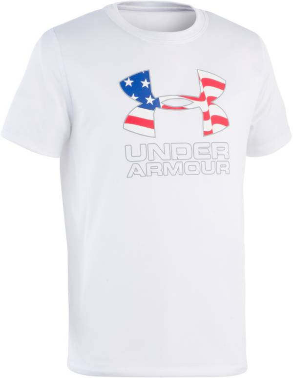 Under Armour Boys' Americana Logo Short Sleeve Rash Guard product image