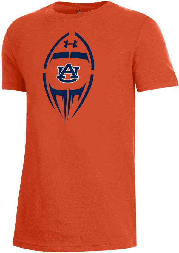Under Armour Youth Auburn Tigers Orange Performance Cotton Football T-Shirt product image