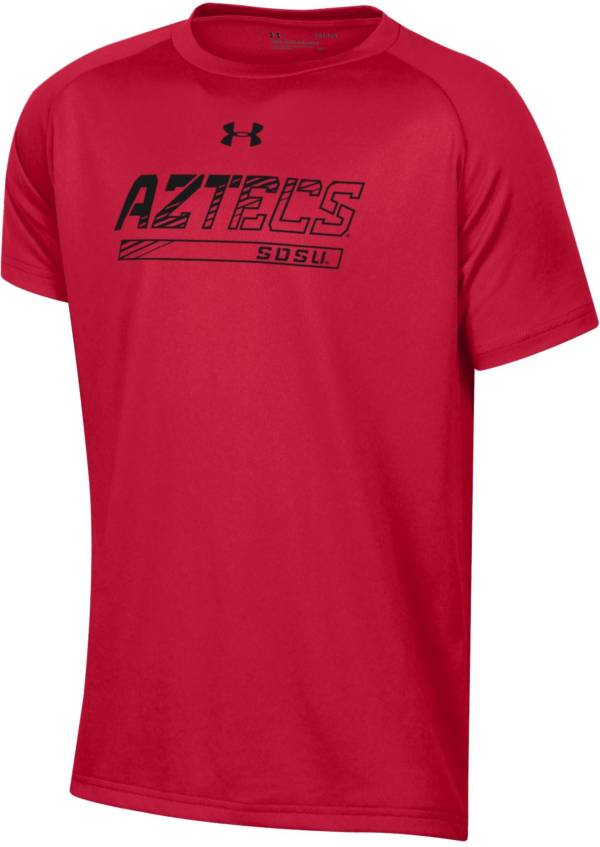 Under Armour Youth San Diego State Aztecs Scarlet Tech Performance T-Shirt product image