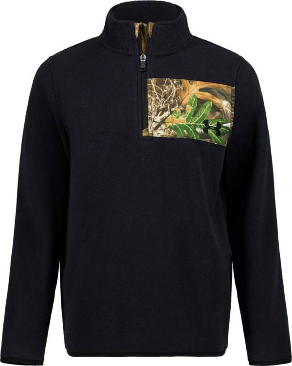 Under Armour Boys' Real Tree Edge Camp 1/4 Zip Long Sleeve Fleece Jacket product image