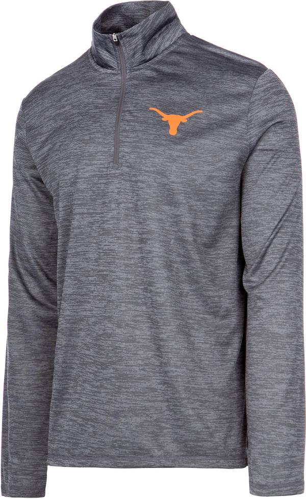 University of Texas Authentic Apparel Men's Texas Longhorns Grey Whitley Quarter-Zip Pullover Shirt product image
