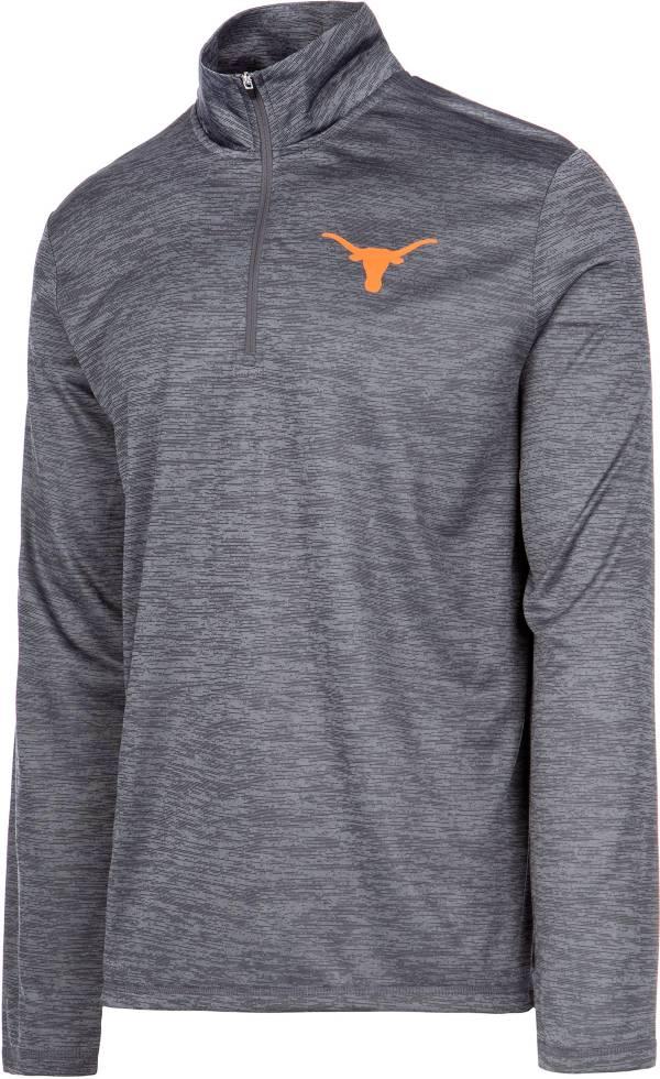 University of Texas Authentic Apparel Men's Texas Longhorns Grey Whitley Quarter-Zip Shirt product image