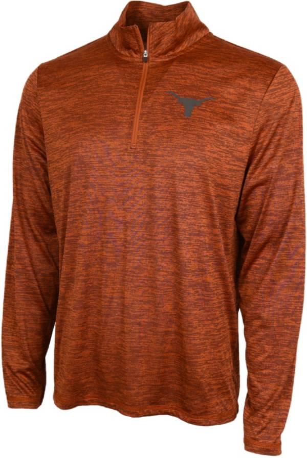 University of Texas Authentic Apparel Men's Texas Longhorns Burnt Orange Whitley Quarter-Zip Pullover Shirt product image