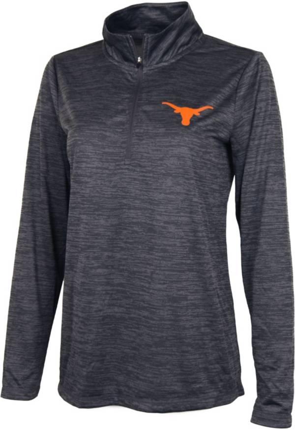 University of Texas Authentic Apparel Women's Texas Longhorns Grey Quarter-Zip Pullover Shirt product image