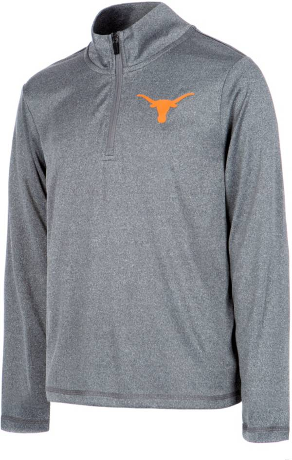 University of Texas Authentic Apparel Youth Texas Longhorns Grey Joel Quarter-Zip Pullover Shirt product image