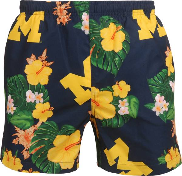 FOCO Men's Michigan Wolverines Blue Floral Shorts product image
