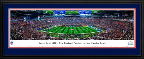 Blakeway Panoramas Super Bowl LIII Champions New England Patriots Kick Off Deluxe Framed Panorama Poster product image