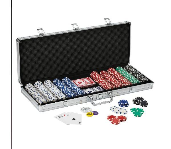 Fat Cat Texas Hold 'Em Dice Poker Chip Set product image