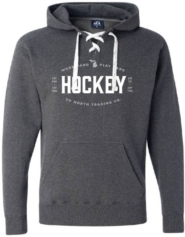 Up North Trading Company Men's State of Hockey Michigan Hoodie (Regular and Big & Tall) product image