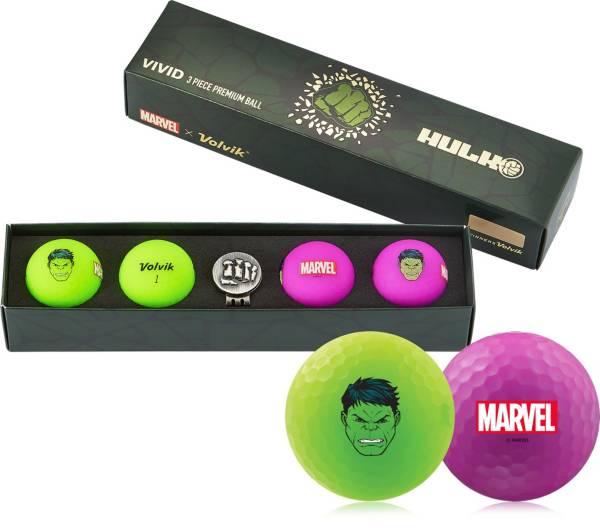 Volvik VIVID Matte Marvel Hulk Edition Golf Balls + Hat Clip Set – 4 Pack product image