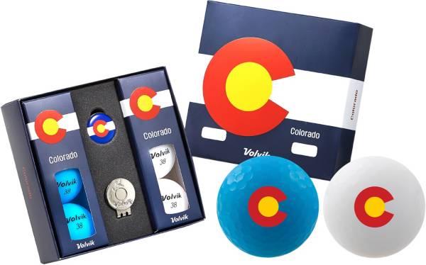 Volvik VIVID Matte State Colorado Edition Golf Balls + Hat Clip Set  – 6 Pack product image