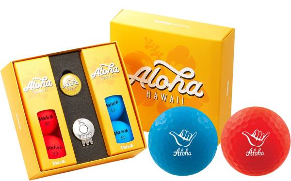 Volvik VIVID Matte State Hawaii Edition Golf Balls + Hat Clip Set  – 6 Pack product image
