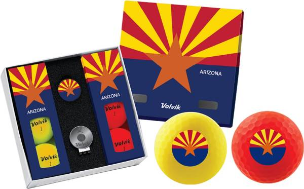 Volvik VIVID Matte State Arizona Edition Golf Balls + Hat Clip Set  – 6 Pack product image