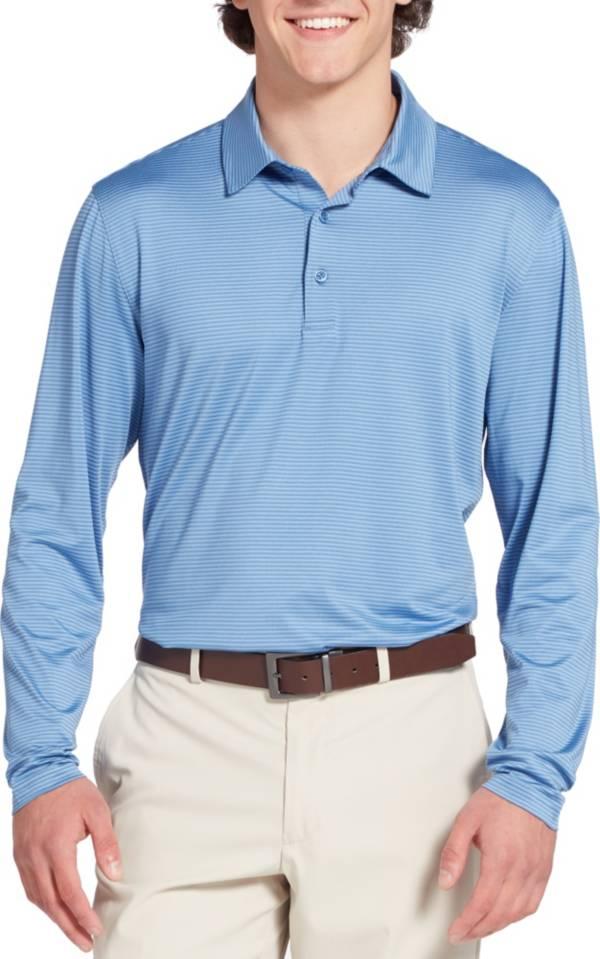 Walter Hagen Men's Long Sleeve Stripe Golf Polo product image