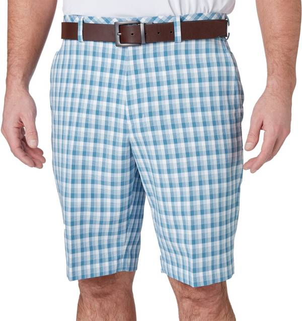 Walter Hagen Men's 11 Majors Brush Stroke Plaid Golf Shorts product image