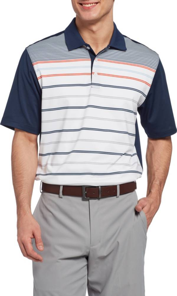 Walter Hagen Men's 11 Majors Stripe Block Golf Polo product image