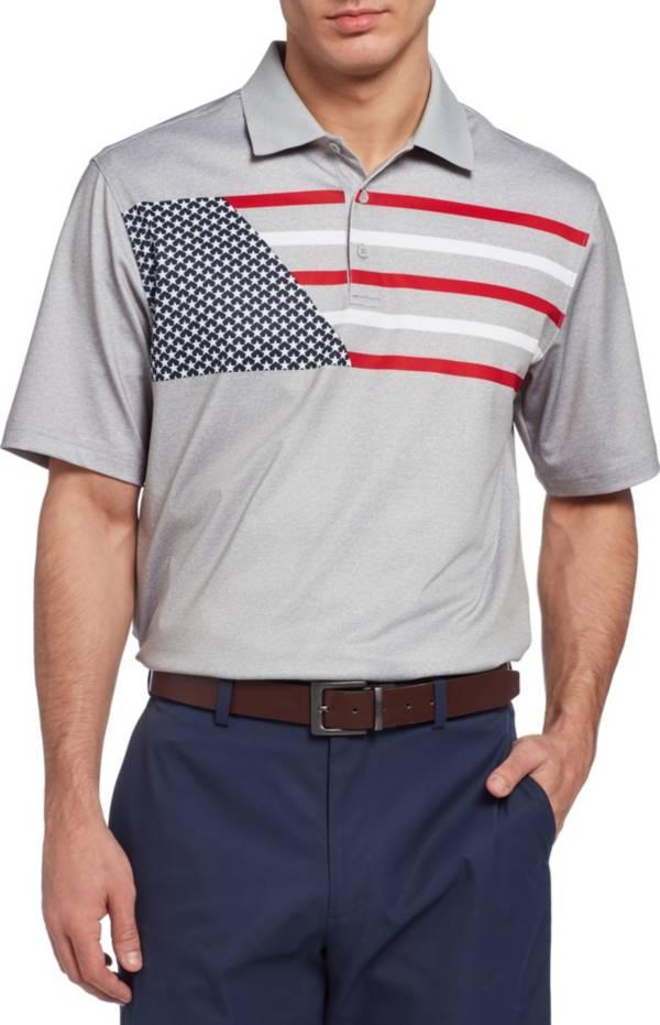 Walter Hagen Men's 11 Majors Flag Print Golf Polo product image
