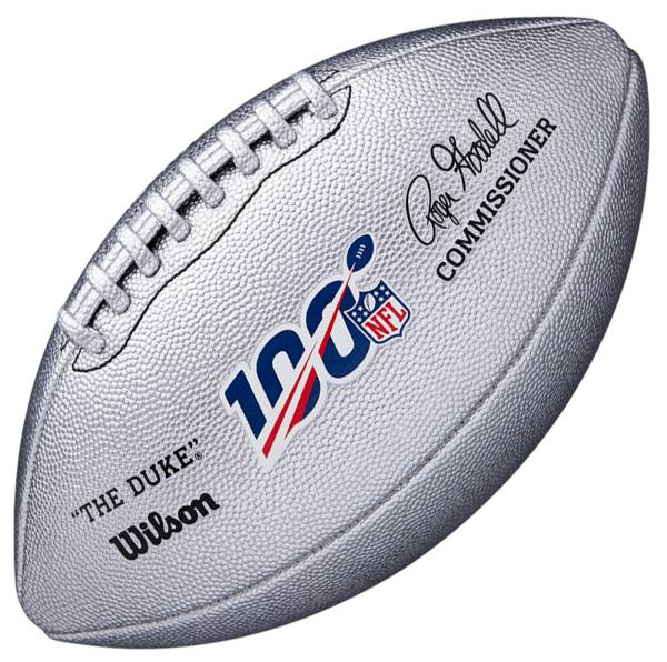 Wilson NFL 100th Anniversary Platinum Metallic Official Football product image