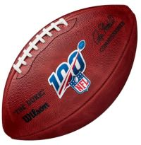 Wilson Official 100th NFL Anniversary Authentic Leather Game Ball Duke Football