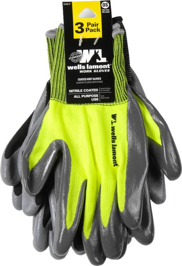 Wells Lamont Men's 3 Pack Nitrile Gloves Value Pack product image