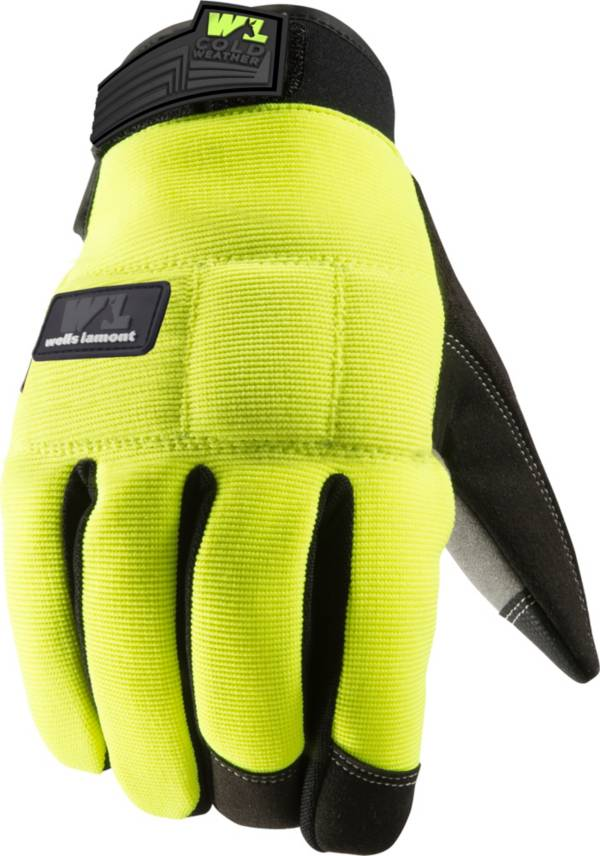Wells Lamont Men's FX3 Hi-Visibility Padded Synthetic Leather Palm Winter Work Gloves product image