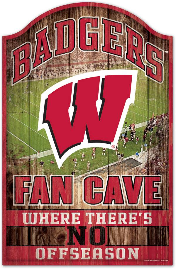 "Wincraft Wisconsin Badgers 11"" x 17"" Sign product image"