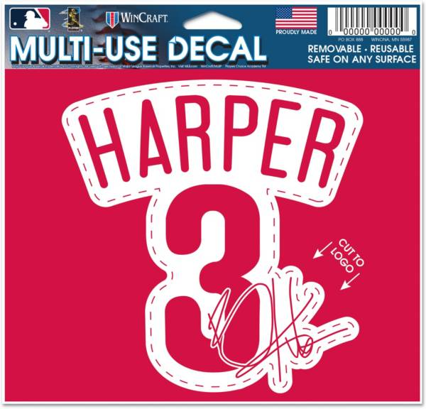 WinCraft Philadelphia Phillies Bryce Harper Multi-Use Decal product image
