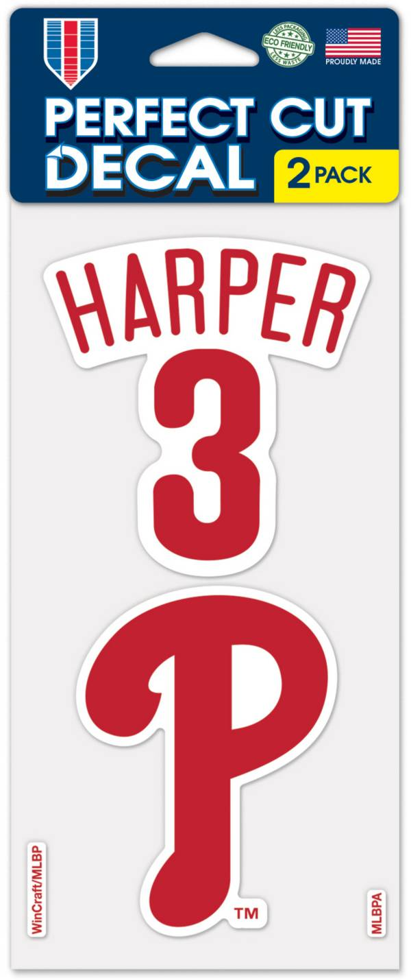 WinCraft Philadelphia Phillies Bryce Harper Perfect Cut Decal 2-Pack product image