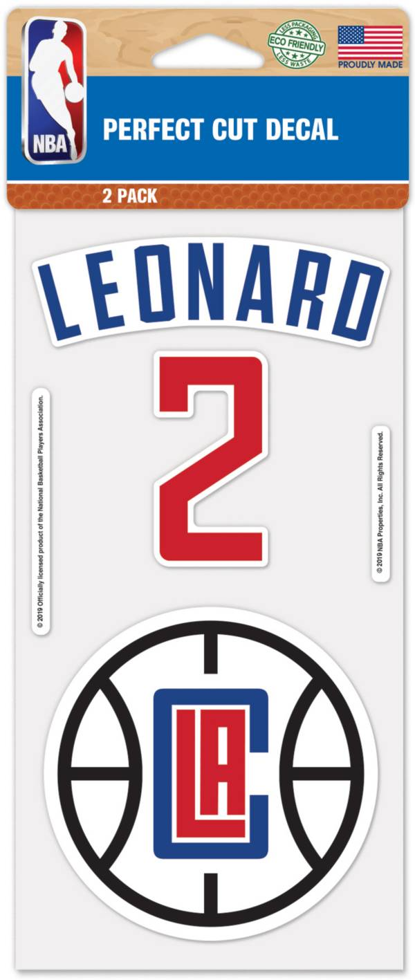 WinCraft Los Angeles Clippers Kawhi Leonard 2 Pk. Decal product image