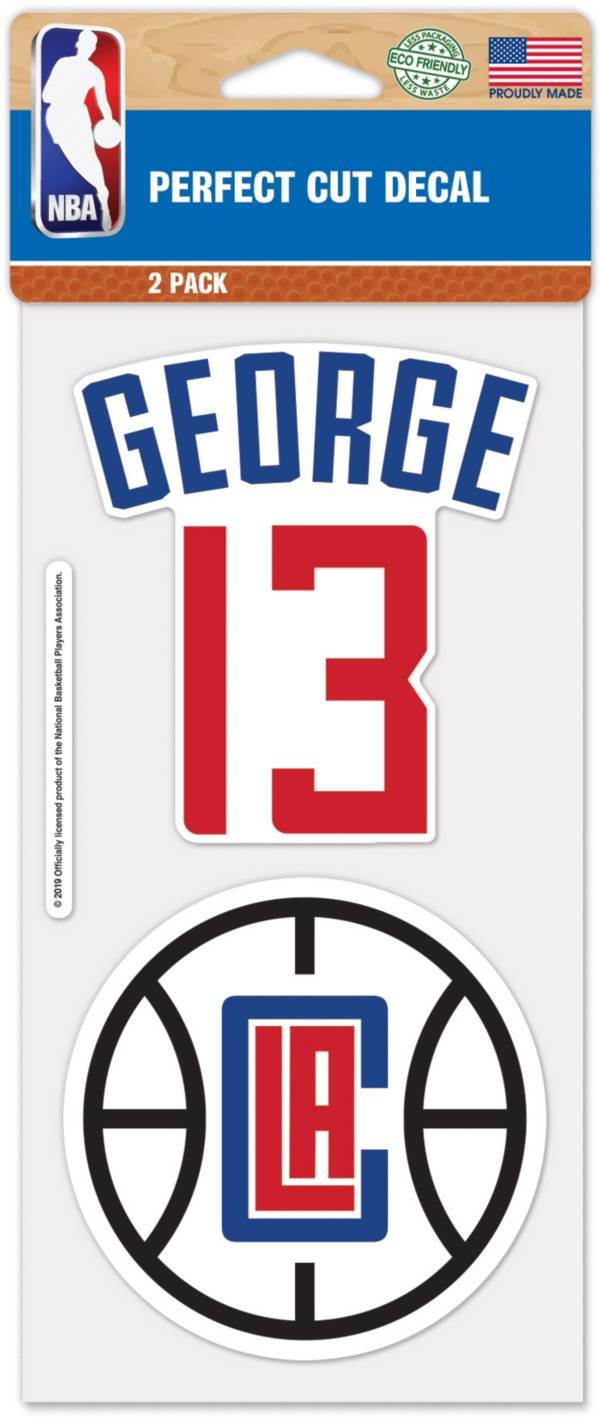 WinCraft Los Angeles Clippers Paul George 2 Pk. Decal product image