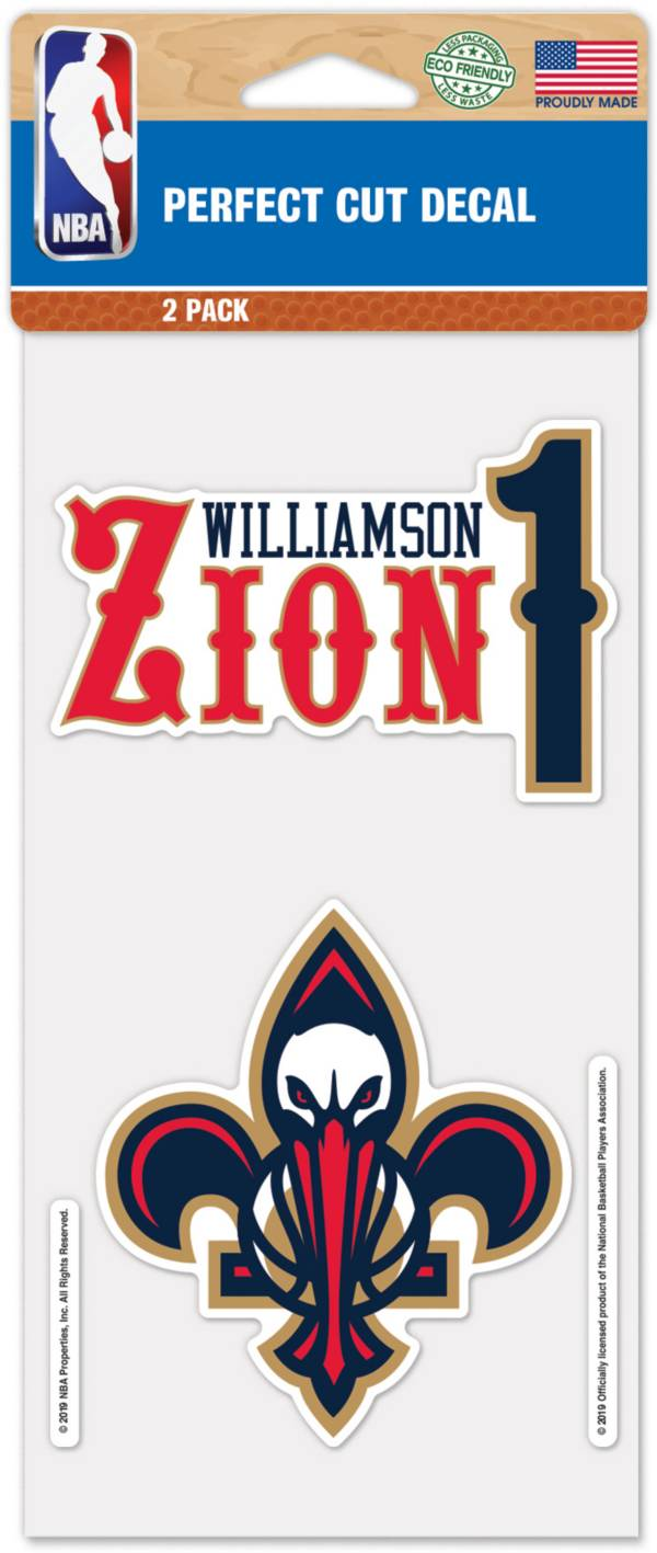 WinCraft New Orleans Pelicans Zion Williamson 2pk. Decal product image