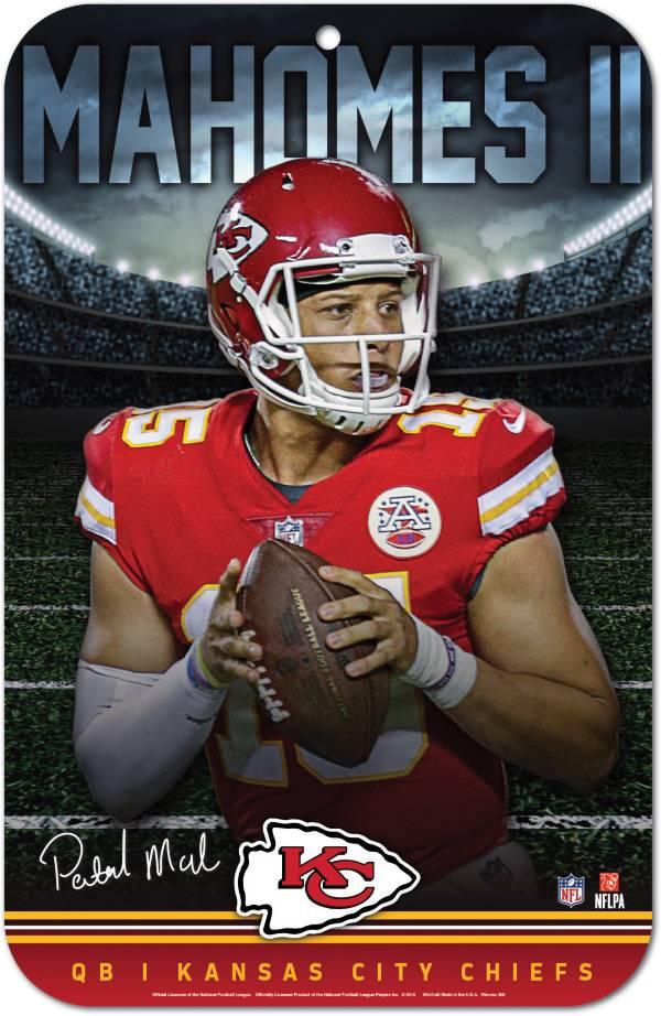 "Wincraft Kansas City Chiefs Patrick Mahomes 11"" x 17"" Sign product image"