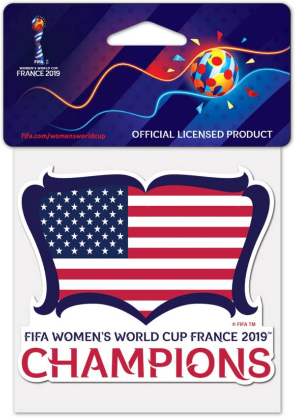 WinCraft 2019 FIFA Women's World Cup Champions USA Soccer Decal product image