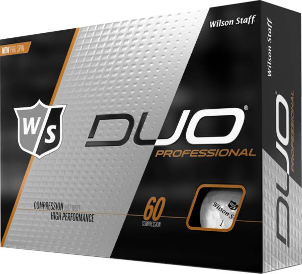 Wilson Staff Duo Professional Personalized Golf Balls – Gloss White product image