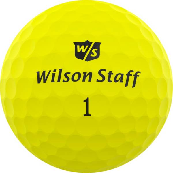 Wilson Staff Duo Professional Matte Yellow Personalized Golf Balls product image