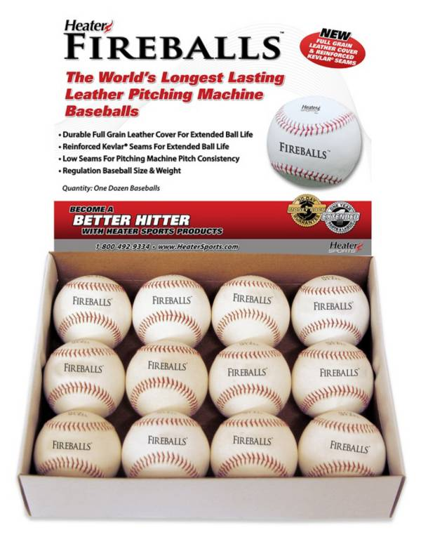 Heater Fireball Leather Baseballs - 12 Pack product image