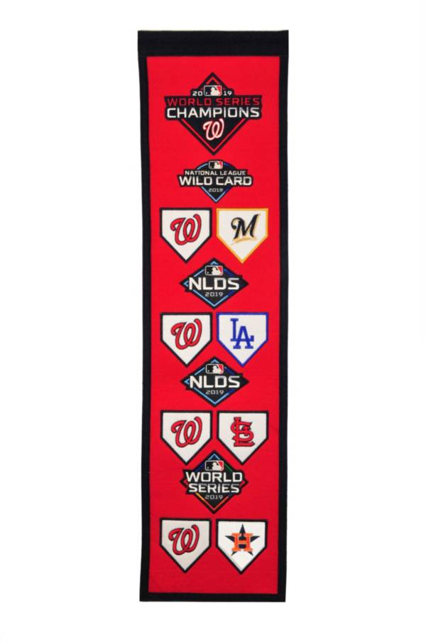 Winning Streak Sports 2019 World Series Champions Washington Nationals Road to Championship Banner product image