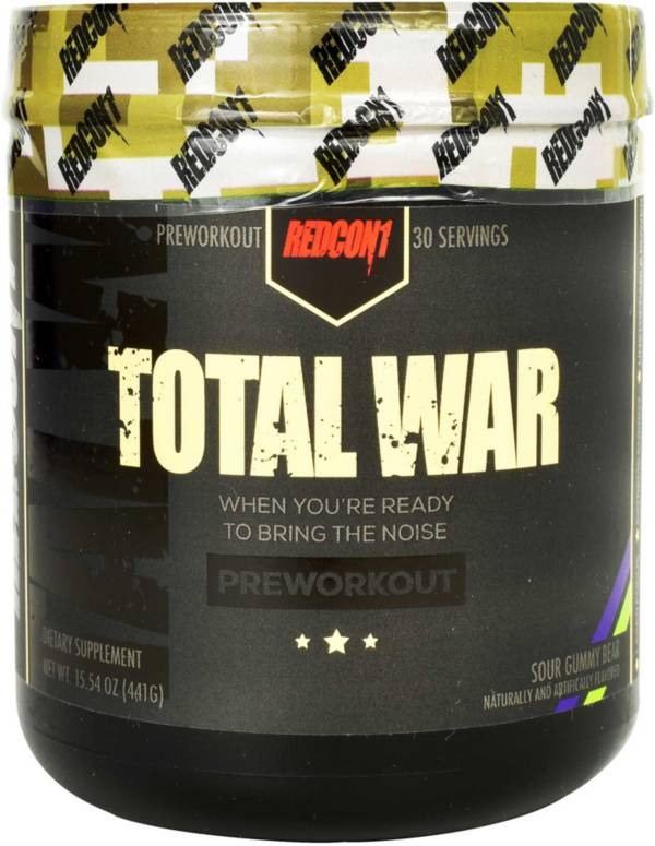 Redcon1 Total War Preworkout Sour Gummy Bear 30 Servings product image