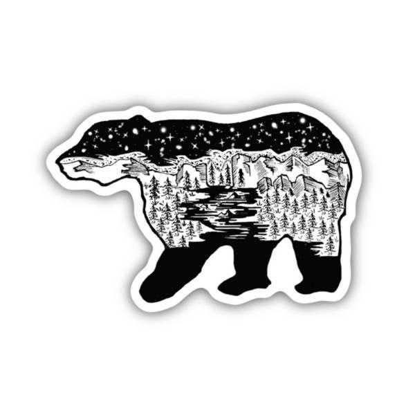 Stickers Northwest Bear Scene Sticker product image