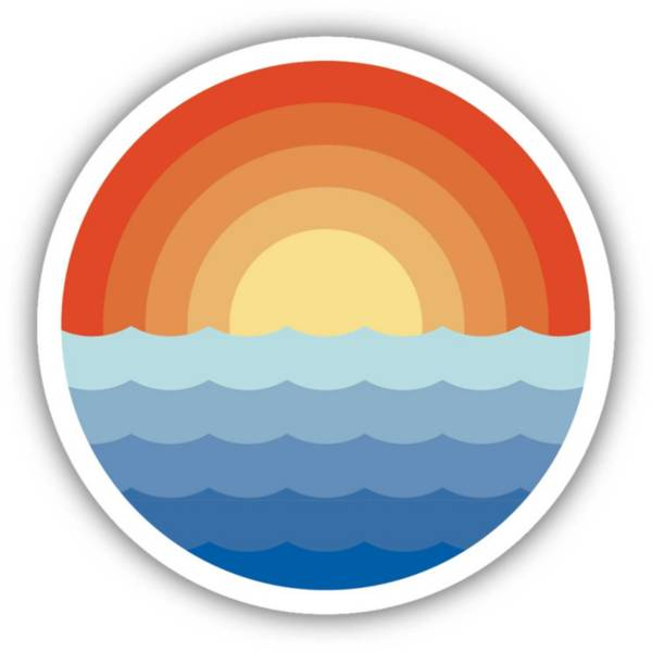 Stickers Northwest Sunrise Waves Sticker product image