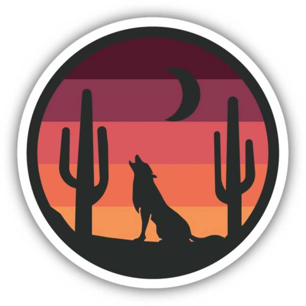 Stickers Northwest Wolf Sunset Sticker product image
